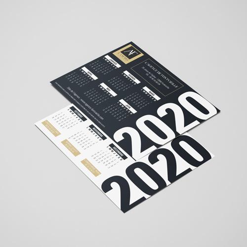 Calendrier 2020 Agence de Fontvieille
